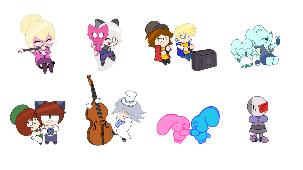 YowLife Jumper - Sticker Characters by KryssenRobinson