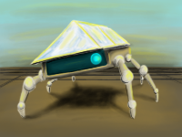 Solar panel bug - encune by Robot-drawing-club