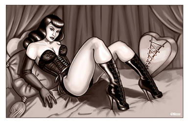 Bettie Page Tribute by EricaHesse