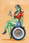 Zombie Girl for Car Club