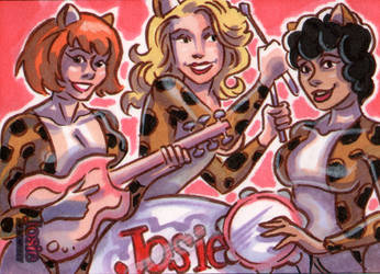 Josie and the Pussycats Sketch Card