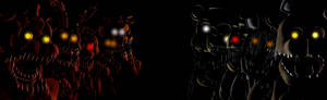 Fnaf 2 and 4 Poster