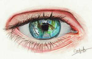 Green gaze by acjub
