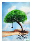 Tree of lost childhood