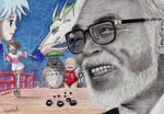 Hayao Miyazaki by acjub