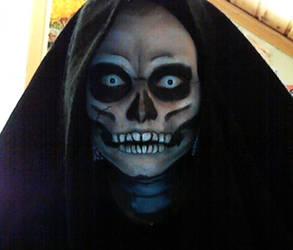 Skull makeup by acjub