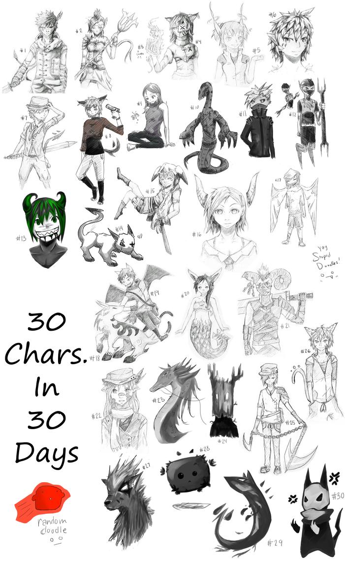 Character Design Challenge 30 : Character challenge by ninjakimi on deviantart