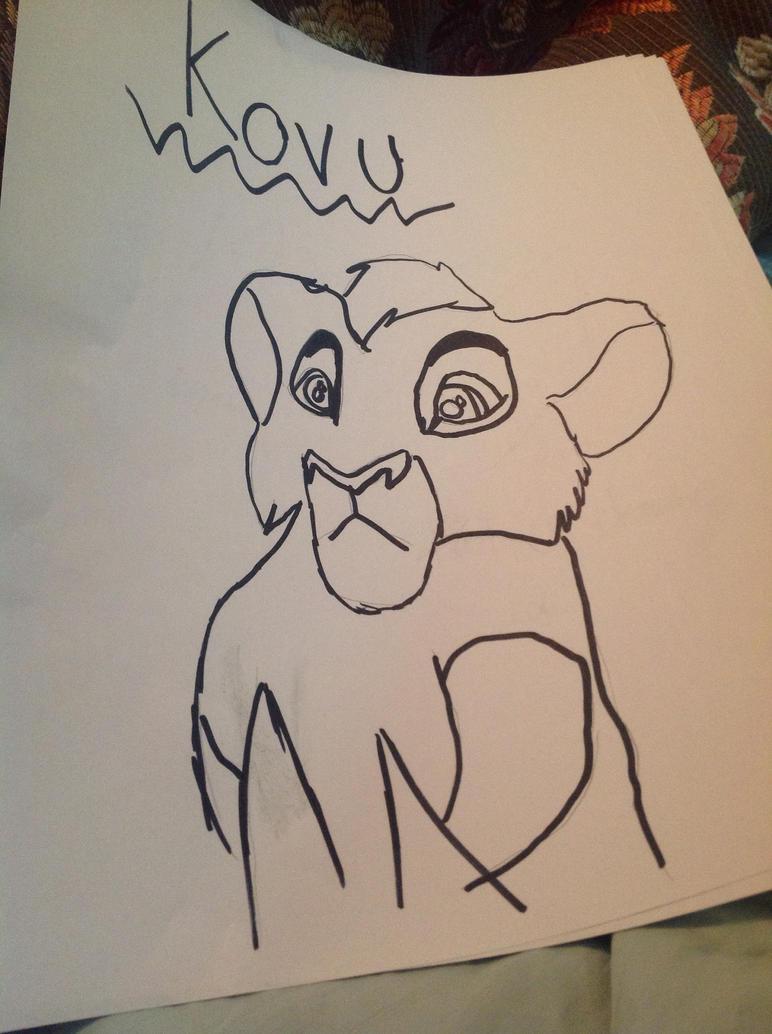 Kovu Drawing by IamaUnicorn02