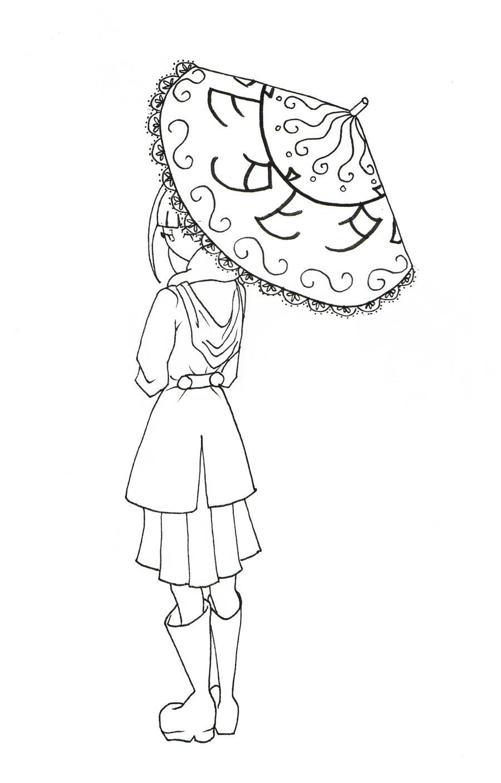 Natsu with her umbrella by Zutroicatz