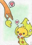Sewaddle (Draw me a pokemon contest) by Inousse