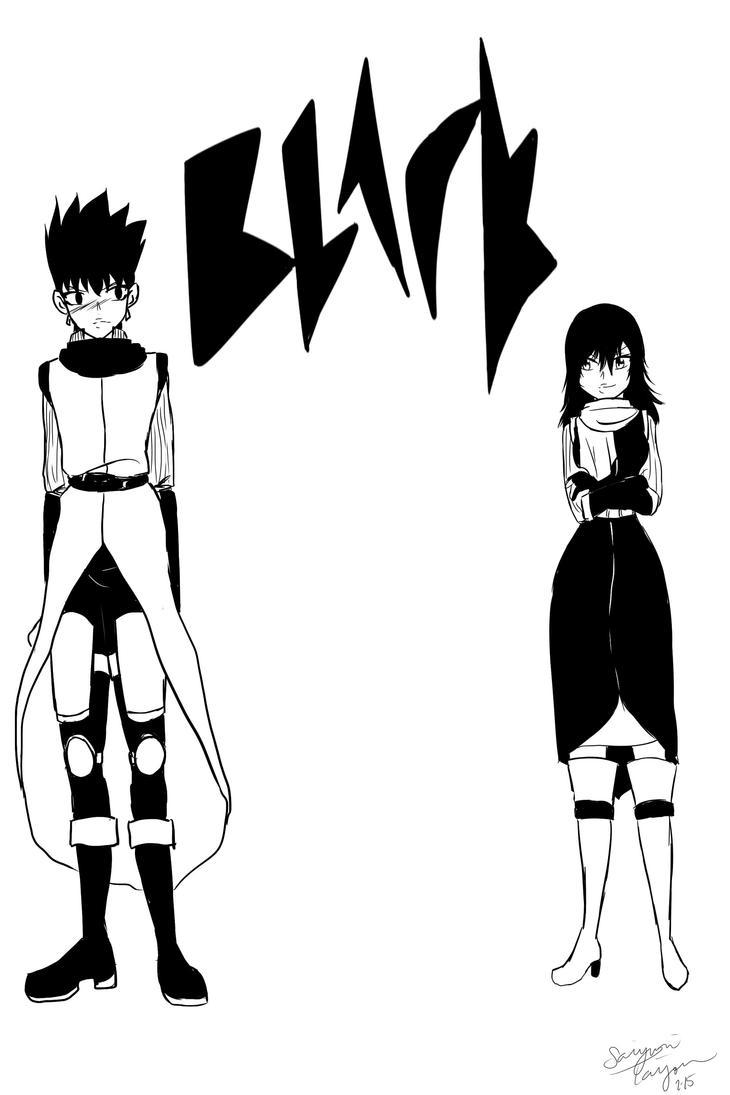 BLACK - Sketch Dump by Saiyuri-Taiyou