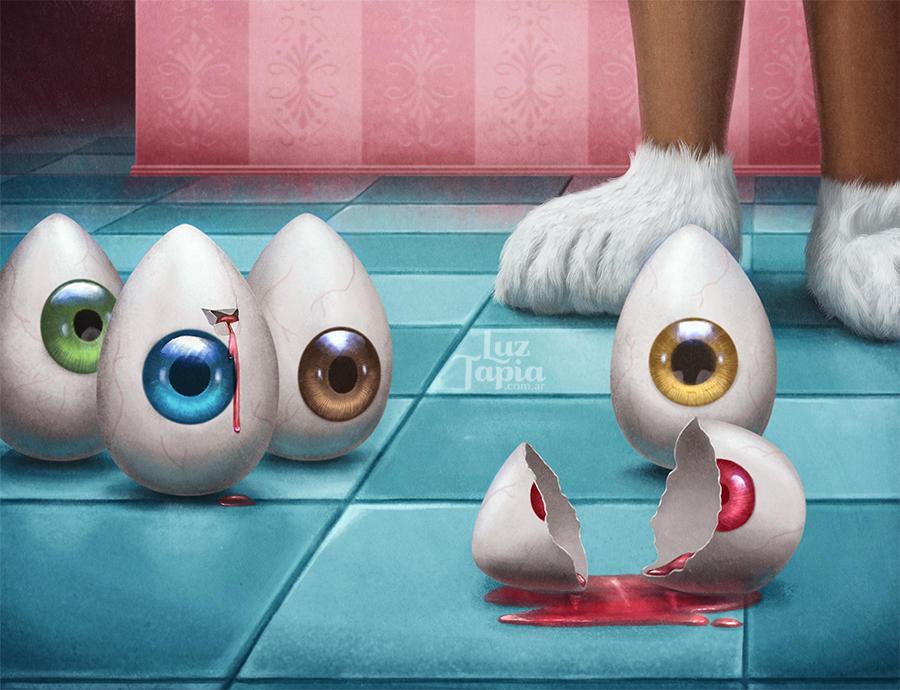 Egg eyes by LuzTapia