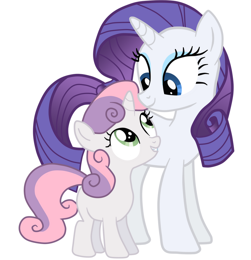 My little pony rarity and sweetie belle - photo#35