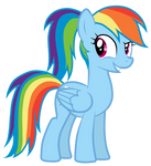 Rainbow Dash With A Ponytail