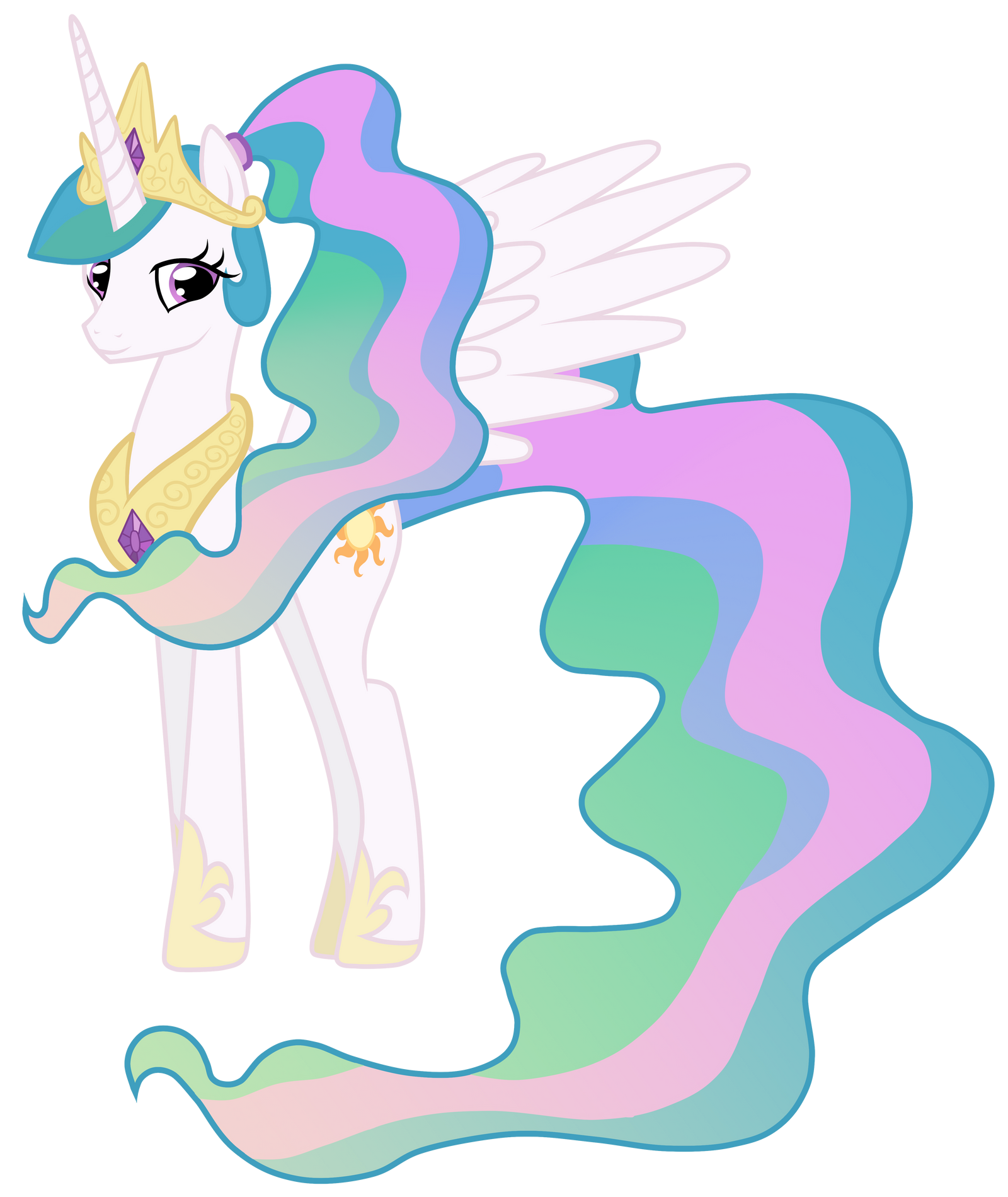 Celestia With A Ponytail by JennieOo