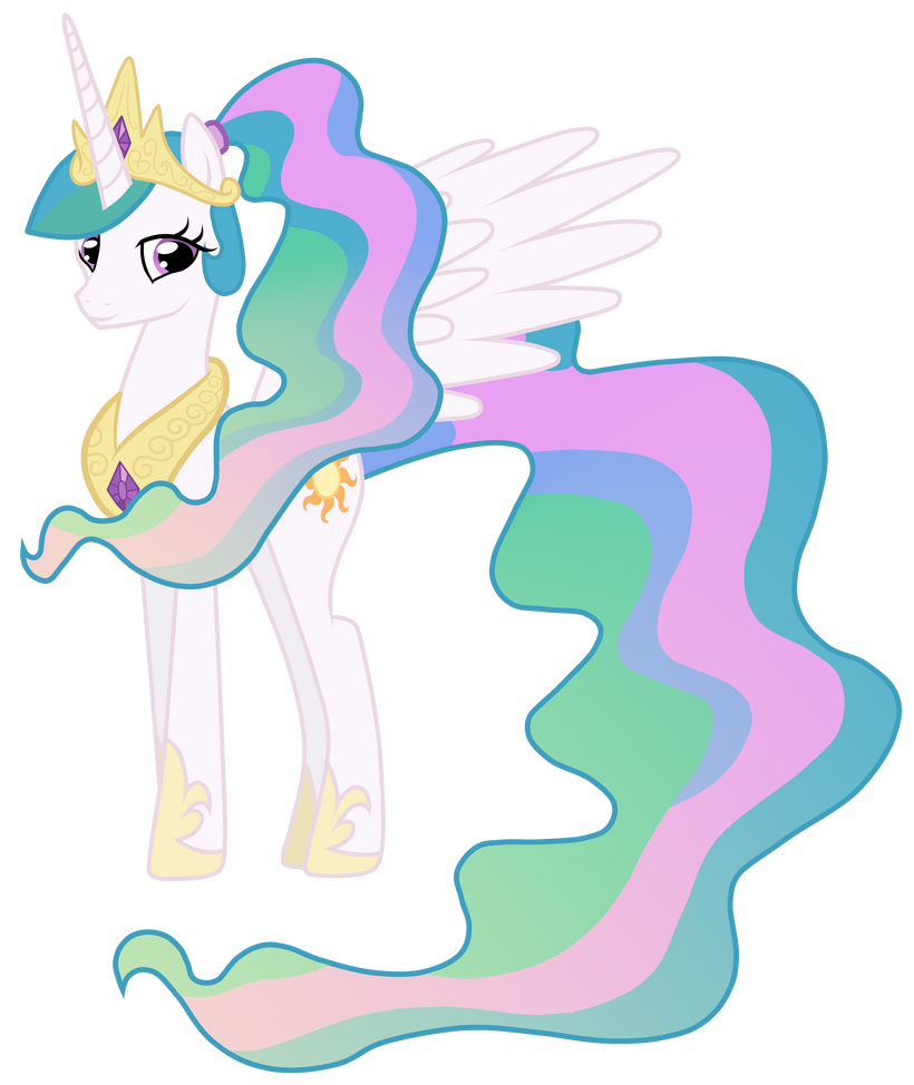 Celestia With A Ponytail by JennieOo