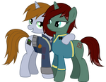 Littlepip and Snipey