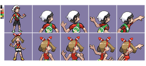 PUBLIC OrAs Protagonists Gba back front sprites