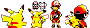 Pokemon Lets go protagonist in yellow sprite style by Solo993