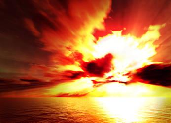 Atomic sunset by Samuel-Hardidge