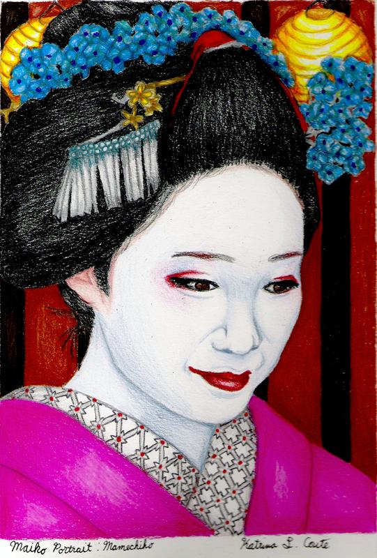 Maiko Portrait: Mamechiho by KatyCrayon