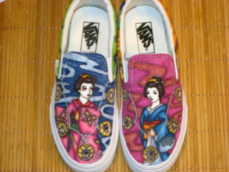 Custom Maiko-Geiko Vans by KatyCrayon