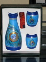 Custom Sake Set- Peacock