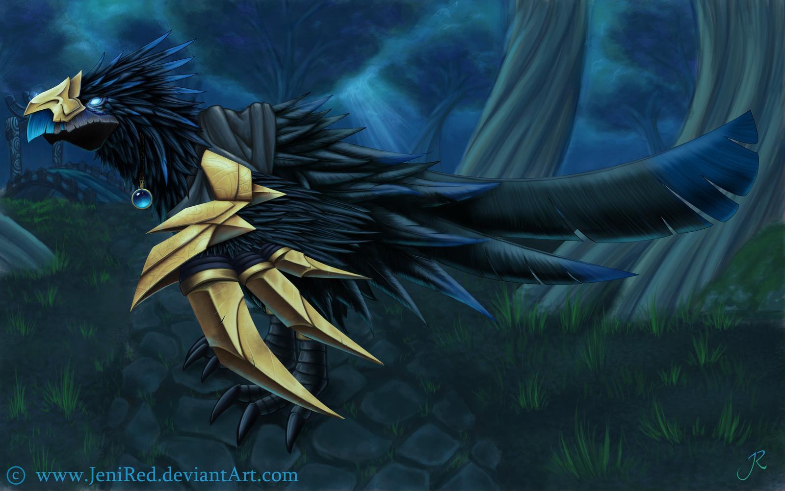 Raven Lord Anzu by JeniRed