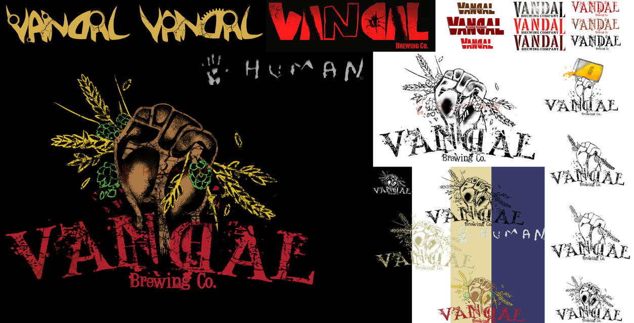 The Creative Process: Vandal Brewery Logo Project by TalesOfNightWing