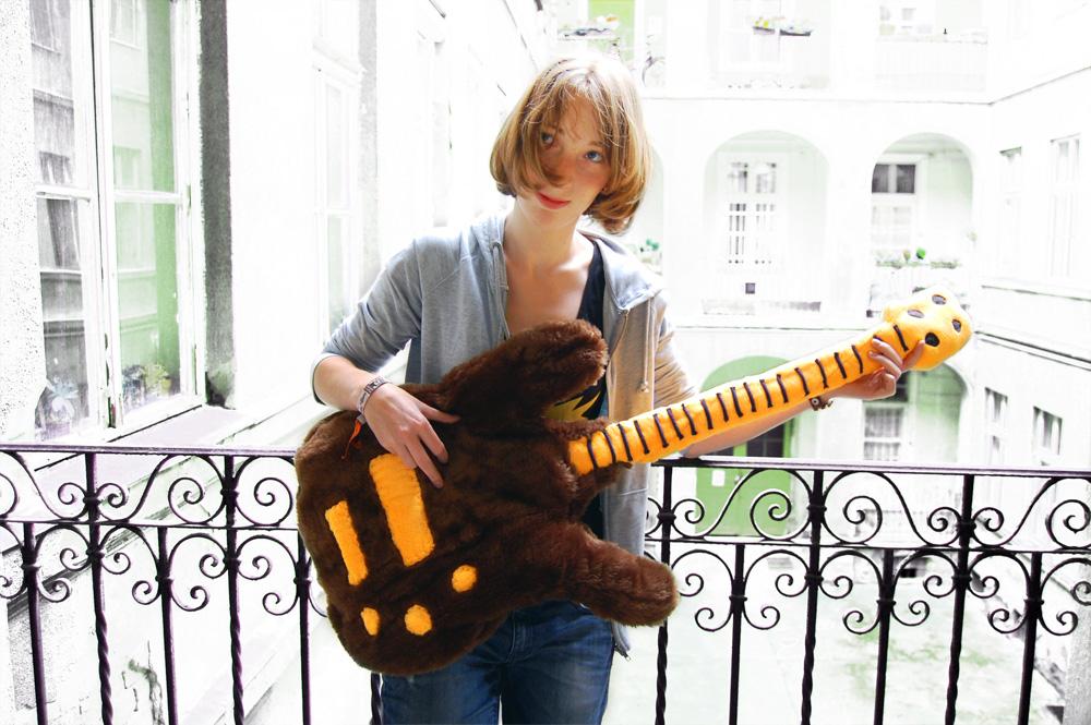 Bass Guitar Plushie by GaraboncziA