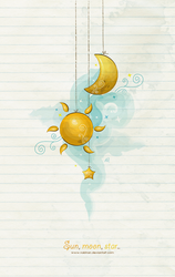 sun, moon, star by NaBHaN