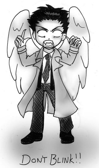 Weeping Angel Castiel by a-moosed