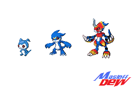 Digimon Sprites pokemon style by Masloff