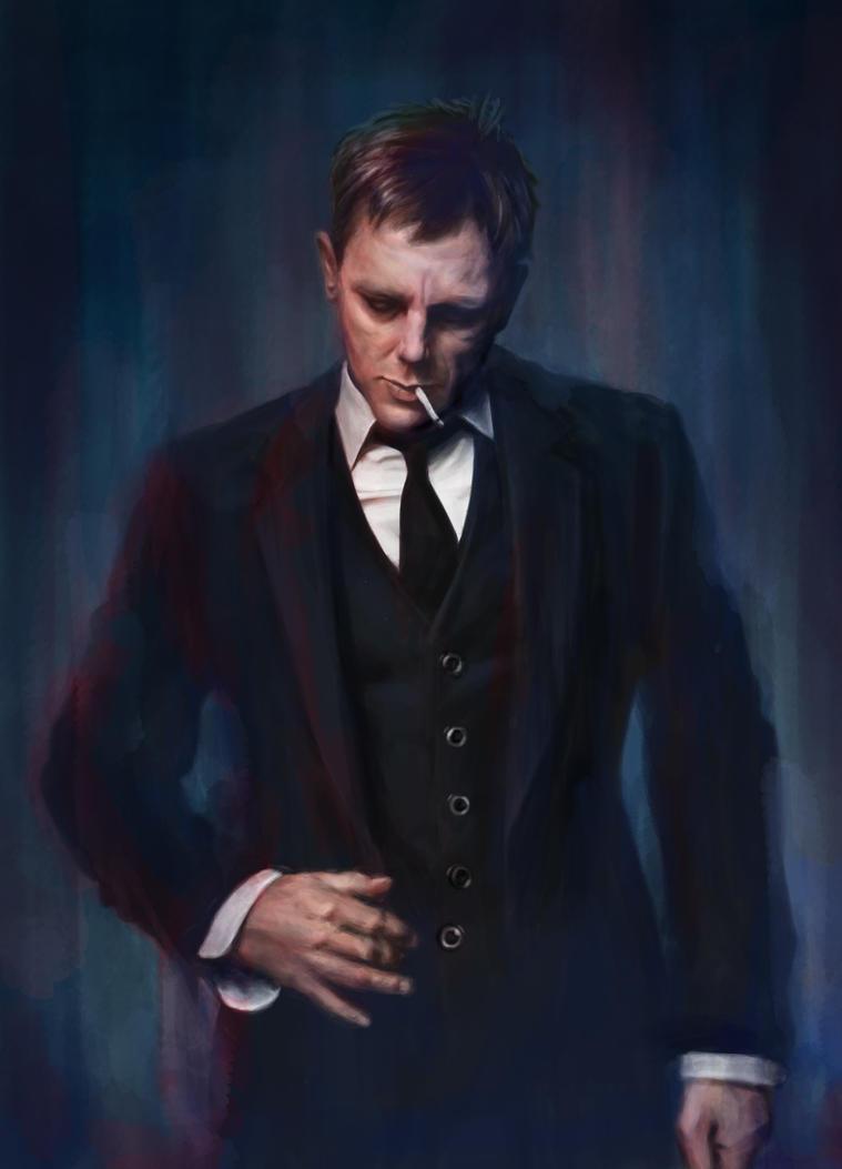 Digital Painting - Daniel Craig by black-muffin