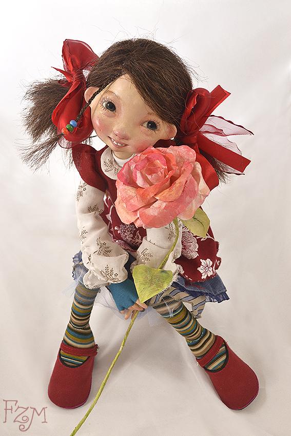 Jacinta con rosa en la mano by Franart1