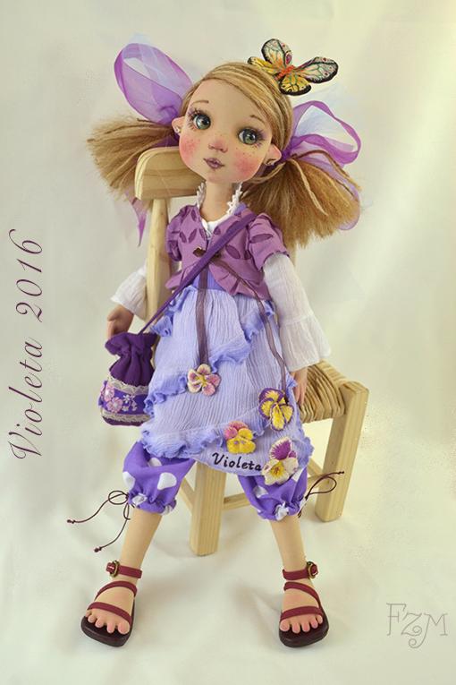 Violeta sentada by Franart1