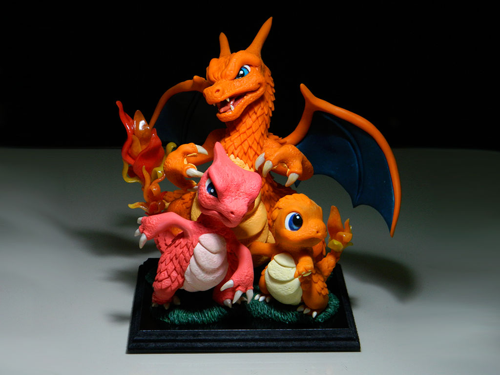 Charmander evolutions (custom commission)