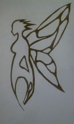 Fairy Tattoo For a Friend by AlphaWolfAl