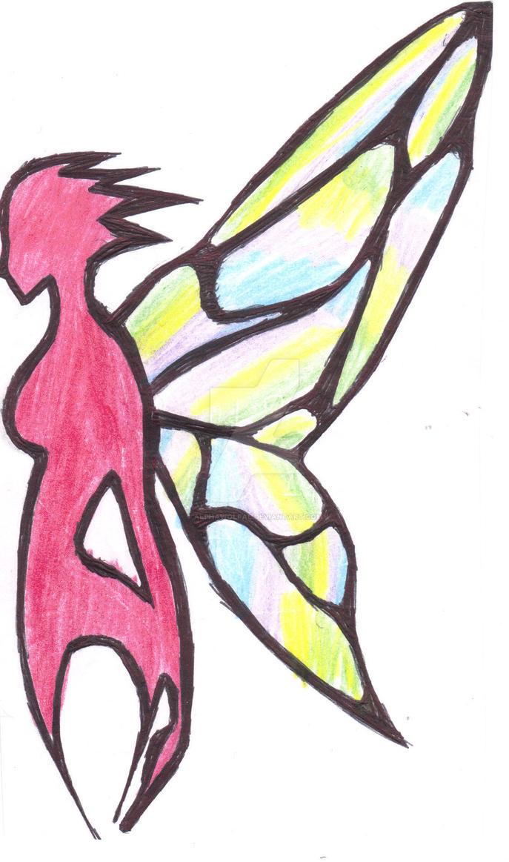 Fairy Tattoo COLOR by AlphaWolfAl