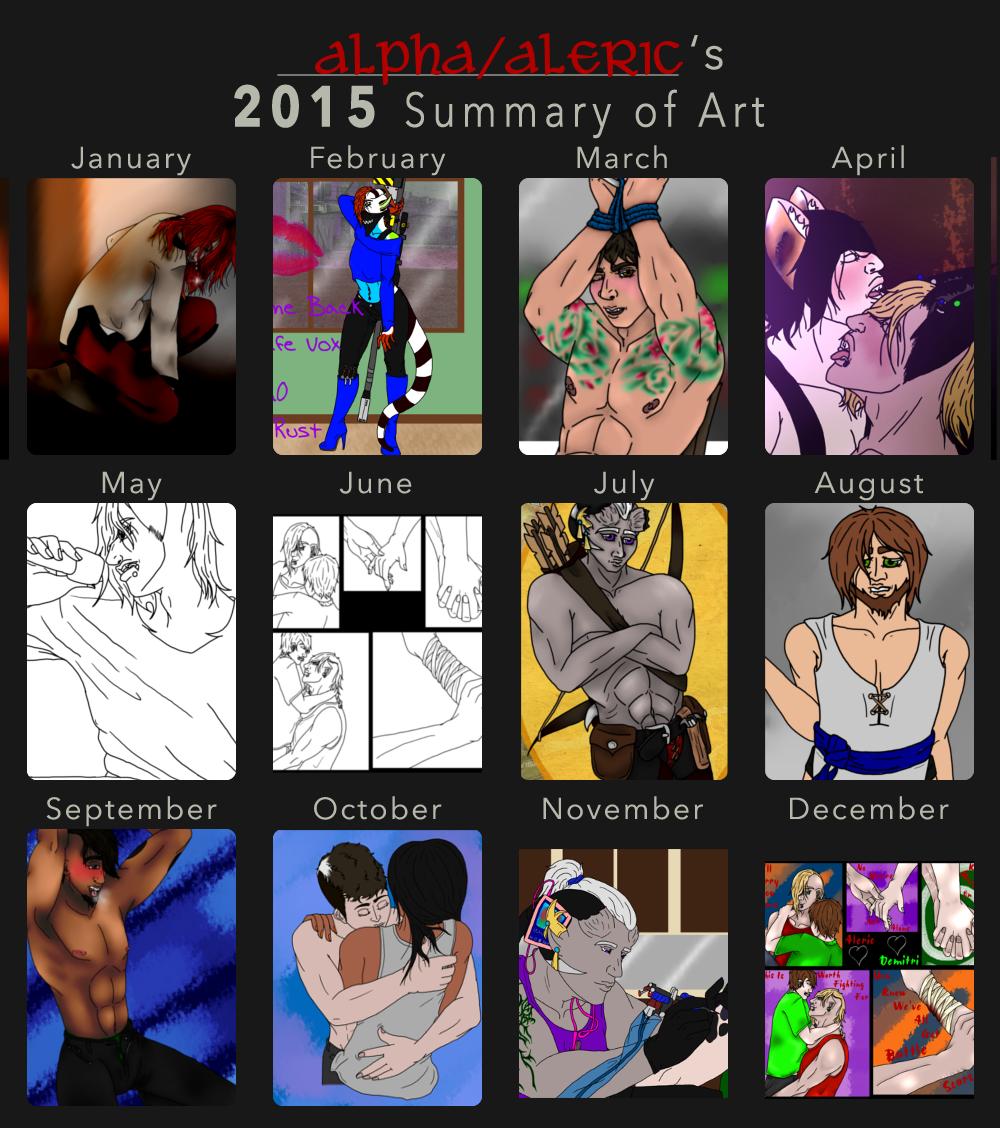 2015 Summary of Art by AlphaWolfAl