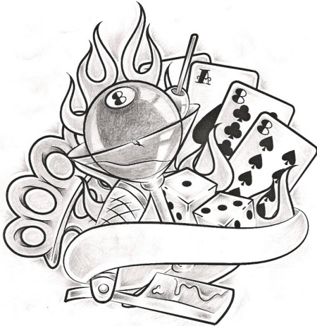 Tattoo 1 Black and Grey by Gwaraddict