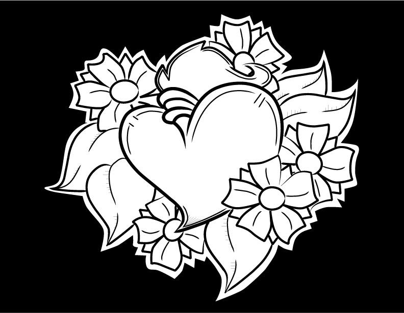 Heart With Flowers By Gwaraddict On DeviantArt