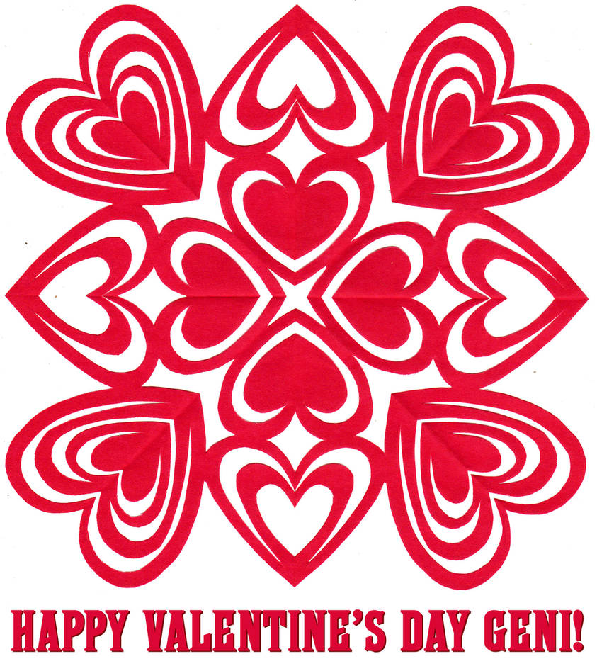 Valentine's Day paper-cut by tomrollo
