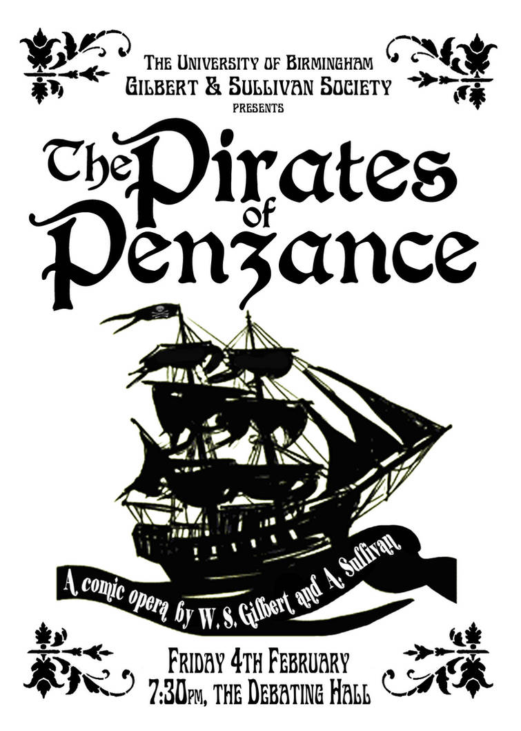 Pirates of Penzance poster by tomrollo