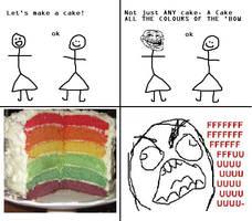 Rageguy cake