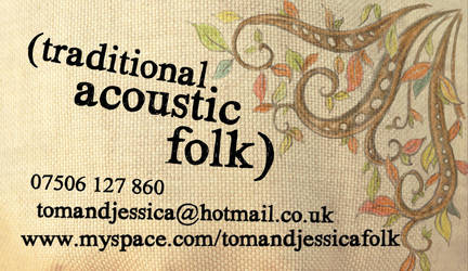 Folk Music Business Card back by tomrollo