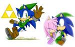 Sonic Lost World - Zelda crossover by DanielasDoodles
