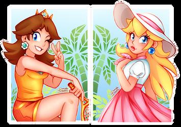 Princess sisters by DanielasDoodles