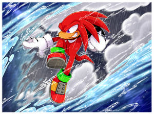Here comes Knuckles!