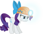 Miner Rarity with her luminescent magic